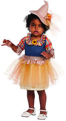 Scarecrow Wizard Of Oz Girls Child Farmer Halloween Costume 3153