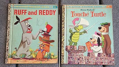 Touche Turtle & Ruff and Reddy Little Golden Books 1st ed A Hanna Barbera 60's