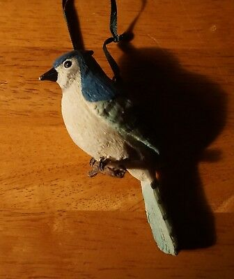 Blue Jay Wild Bird Ornament Rustic Lodge Log Cabin Christmas Home Decor NEW