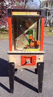 1956 WILLIAMS Crane Digger Floor Model Arcade Machine WORKS Watch Video
