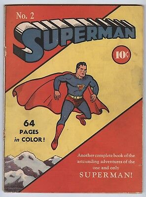 Superman #2 (Pretty-Nice!) Siegel; Shuster; Golden Age; DC Comics; 1939 (c#16373