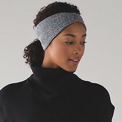 LULULEMON Run With Me Ear Warmer II Women's One Size Color Black/White NEW w/Tag