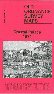 Old Ordnance Survey Map Crystal Palace 1871 Penge Upper Sydenham Wells Road