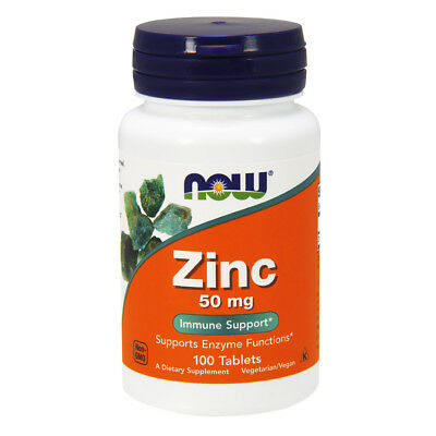NOW FOODS ZINC 50mg - 100 Compresse - integratore di Zinco