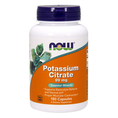 NOW FOODS Potassium Citrate 180 capsule - citrato di potassio