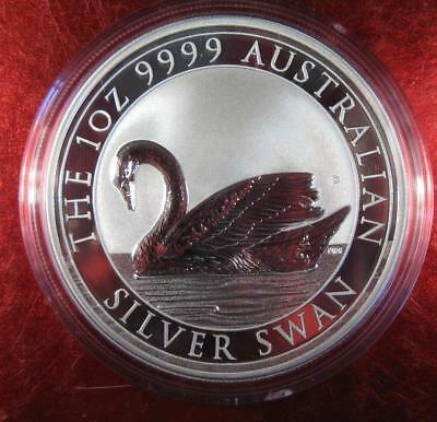 2017 AUSTRALIA 1 Oz SILVER SWAN- LOW MINTAGE OF 25,000- BRILLIANT UNCIRCULATED!