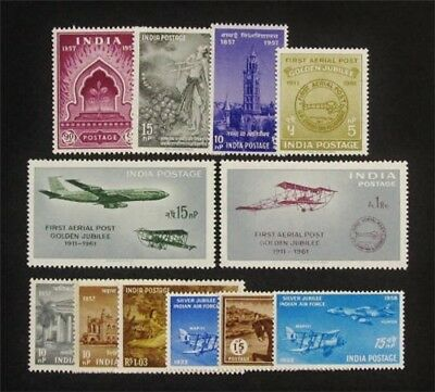 nystamps British India Stamp # 289 // 338 Mint OG H $34
