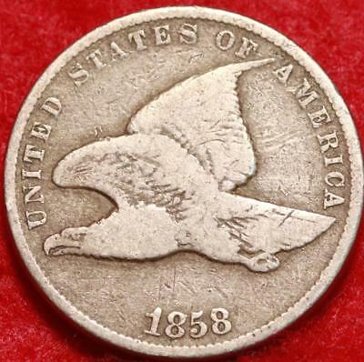 1858 Philadelphia Mint Copper-Nickel Flying Eagle Cent Free S/H