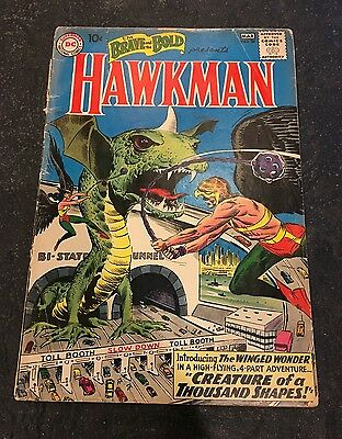 Brave and the Bold #34 1st Silver Age Hawkman Off-white pages! Good copy!
