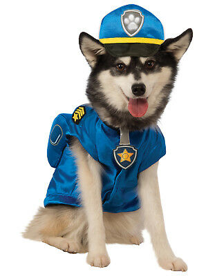 Paw Patrol Chase Traffic Cop Pup Dog Pet Halloween Costume