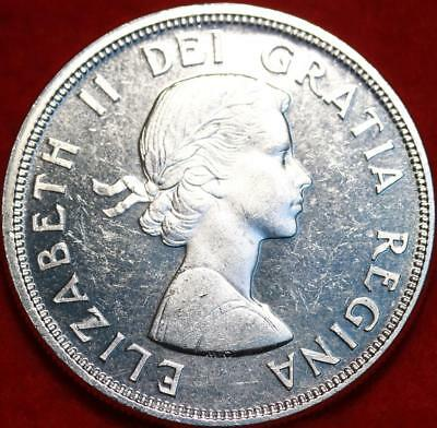 Uncirculated 1964 Silver Canada $1 Dollar Foreign Coin Free S/H
