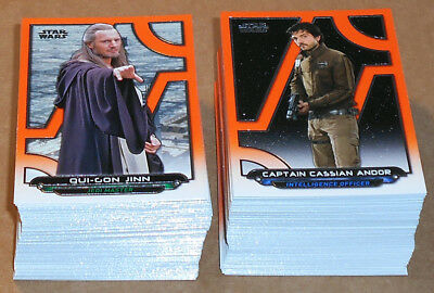 Star Wars Galactic Files Reborn ~ NEAR COMPLETE ORANGE PARALLEL SET (198 cards)