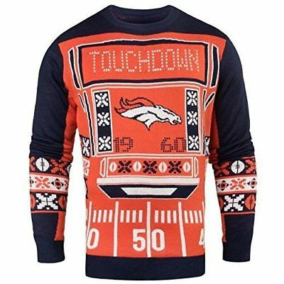 timeless design da33f d1dcc OFFICIALLY LICENSED NFL Light-Up LED Ugly Sweater by Forever Collectibles  NEW