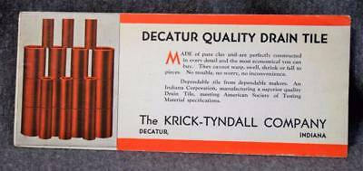 Vintage Knick-Tyndall Co. Drain Tile Decatur Indiana Ink Blotter