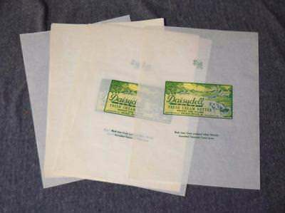 15 Label Sheets 1900's Daisydell Fresh Cream Butter Schlosser Bros. Frankfort IN