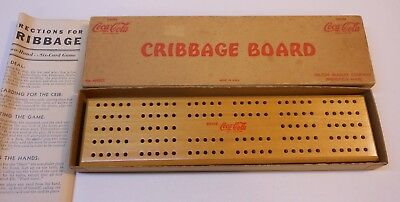 Vintage Coca Cola 1940's  Cribbage Board..Box and Directions