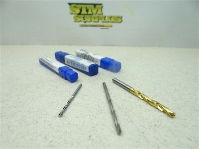 """New!!! Lot Of 3 Solid Carbide Drills 3/32"""", 1/8"""" & 3/16"""" Atrax Dura Point"""
