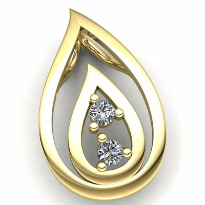 Genuine 0.5ctw Round Cut Diamond Ladies Forever Us For Her Pendant 14K Gold