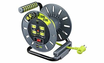 Electrical Cord Storage Reel with 4 120V 10 amp outlets New