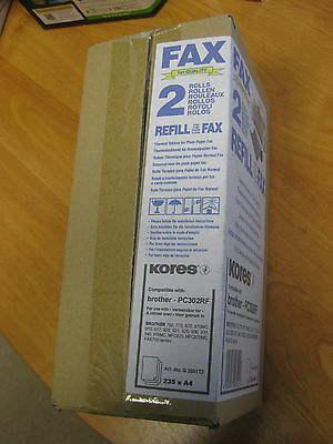 2 x Kores FAX-Rolle PC302RF Brother Faxgerät 910 920 930