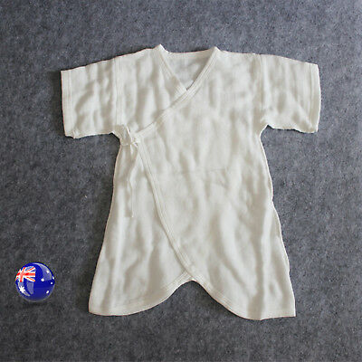Kids Girls Baby Boys Infant Soft White 100% Cotton Linen Romper Wrap 0-6 months