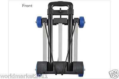 New Convenient Stainless Steel Four Wheels Collapsible Shopping Luggage Trolleys