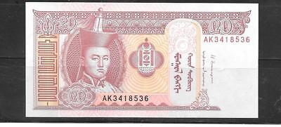 Mongolia 2014 Unused New 20 Tugrik Currency Banknote Bill Note Paper Money