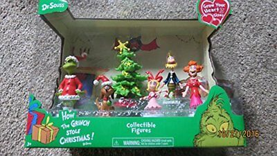 Just Play Dr. Seuss Grinch Holiday Figures Set New