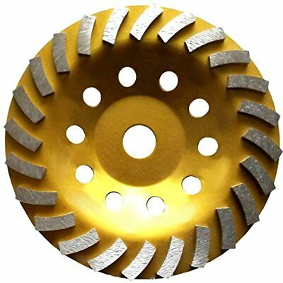 """7"""" Concrete Turbo Diamond Grinding Cup Wheel for Angle Grinder 24 Segs New"""