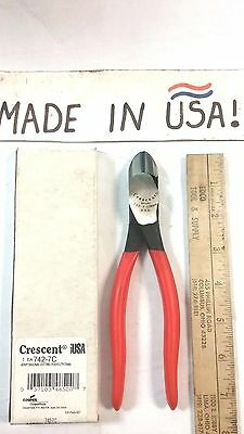 "742-7C - Crescent 7"" Heavy Duty Diagonal Cutting Pliers W/ Grips -New - USA Made"