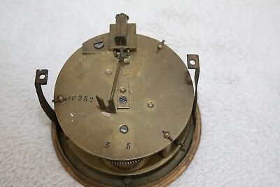 Antique French Single Train Clock Movement For Spares Or Repair