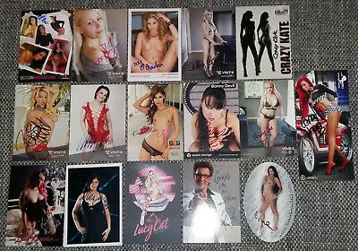 16 Autogrammkarten *ORIGINAL AUTOGRAMME *Erotik Venus 2017 Berlin *IN PERSON*-3-