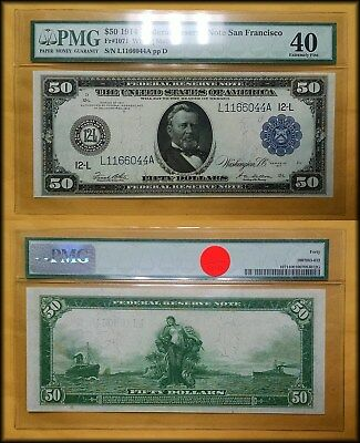 1914 Large Size $50 Federal Reserve Note PMG 40 Extremely Fine - BETTER!