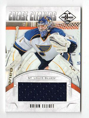 Brian Elliott Nhl 2012-13 Limited Crease Cleaners Materials (St.louis Blues)