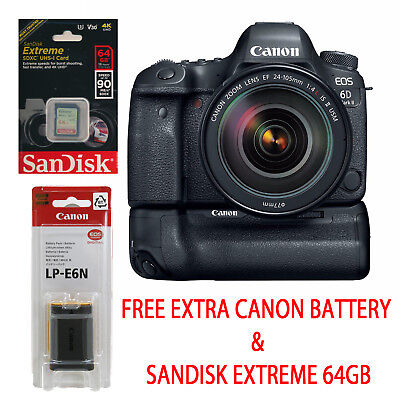 Canon EOS 6D Mark II w/24-105mm and BG-E21 Grip Bundle *NEW* *IN STOCK*