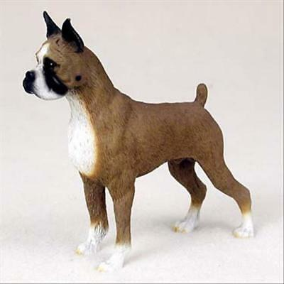 Boxer Cropped Dog Hand Painted Collectable Figurine Statue