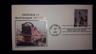 HEROES OF SEPTEMBER 11th, 2001  FIRST DAY OF ISSUE  FDC