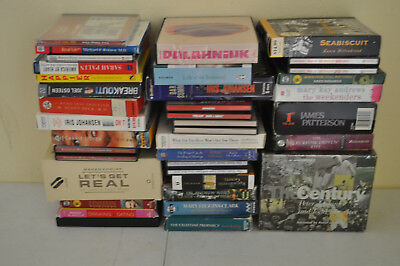 lot of 33 audiobooks on cd All types from Self Help, Management, Non & Fiction