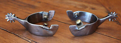 New Excellent Wide Band BLANCHARD STYLE AZ Cowboy Spurs Handmade By Kittelson