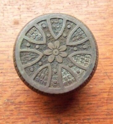Antique Fancy Ornate Victorian Bronze Sevenfold Doorknob c1880- Rare