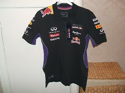 #bnwt# Mens 'pepe Jeans'- Red Bull/renault/total/f1 Racing Polo Shirt, Size 'm'