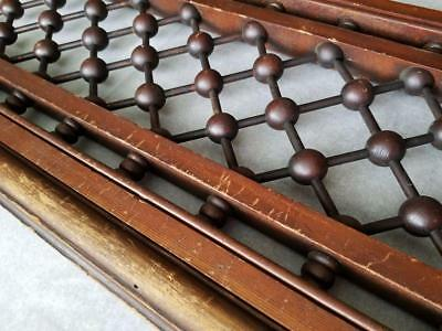 "Antique c1880 BALL & STICK Victorian Wood Transom Gingerbread 42"" Door Header"