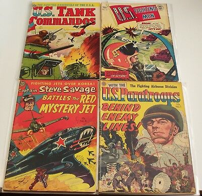 Lot of 3 AVON War comics and one Superior. Captain Steve Savage, US Paratroops++