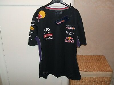 #bnwt# Mens 'pepe Jeans'- Red Bull/renault/total/f1 Racing Tee Shirt, Size 'xl'