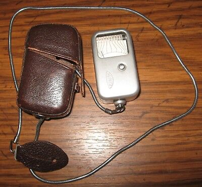 Vintage, Minox Light Meter With Case And Chain Germany