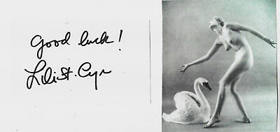 Lili St. Cyr - Authentic And Genuine Hand Signed Autograph With Picture Of Craft
