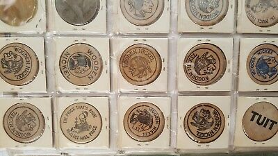 lot 31 Wooden Nickels 1960's Texas and Oklahoma , ST. Lawrence Seaway more...