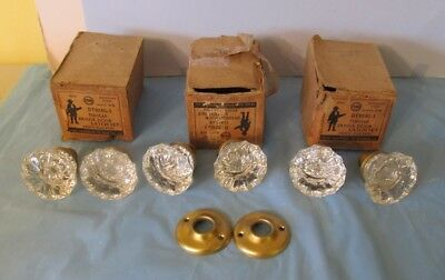 3 Sets Never Used Penn Hardware Glass Door Knobs