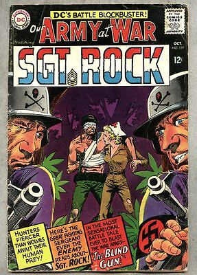 Our Army At War #159-1965 vg- Sgt. Rock Sgt Kubert 1st Nurse Wendy Winston