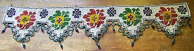 Vintage Native American Indian Glass Beaded Belt / Band